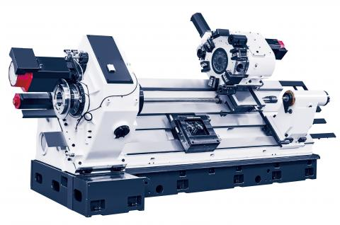 Hi-TECH 700 - Heavy machine bed with wide box guide ways and gear spindle