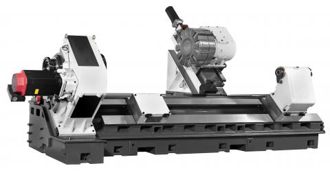 Hi-TECH 850 - Heavy machine bed with wide box guide ways and gear spindle