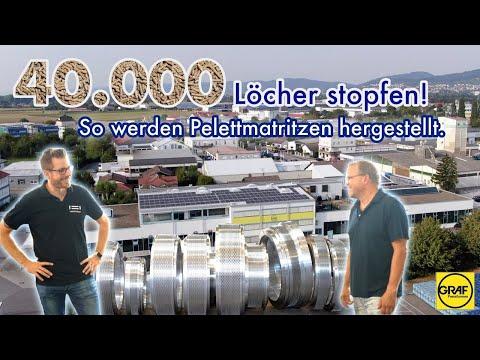 40.000 Löcher stopfen. Holz- und Futterpelettproduktion bei der Firma Graf! (Teil1/2)